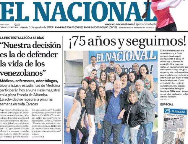 #SinPapelNoHayPeriodico Tras 75 años El Nacional dejará de circular desde este 14Dic