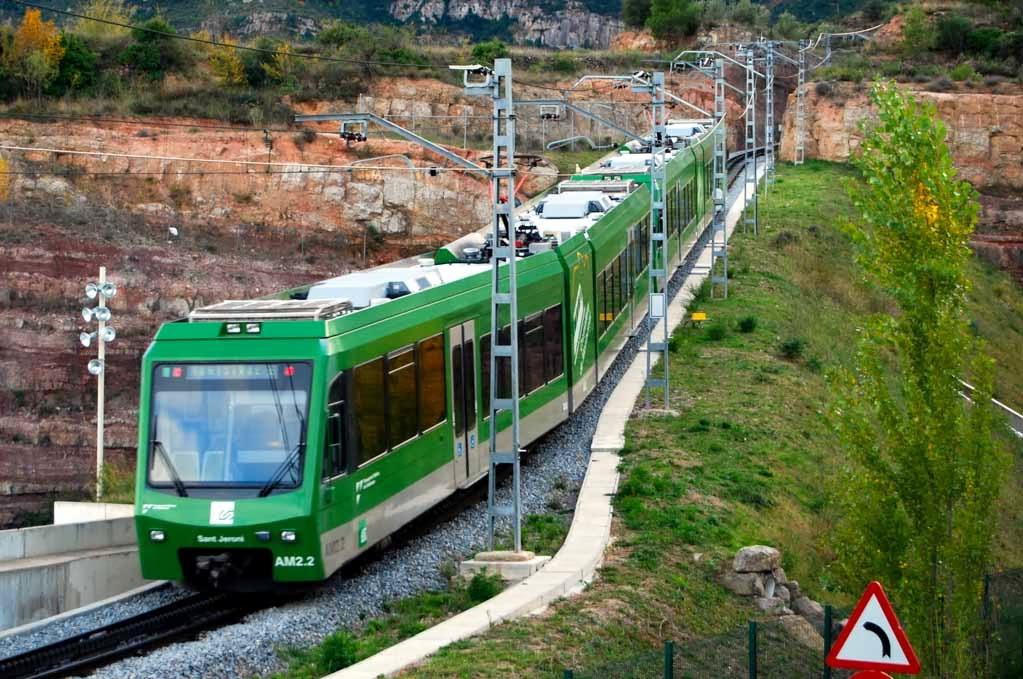 El tren cremallera Montserrat