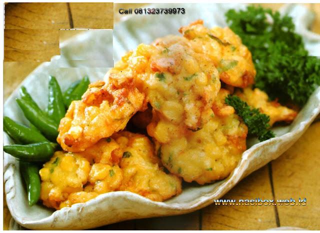 Resep bakwan jagung nasi box cimanggu ciwidey