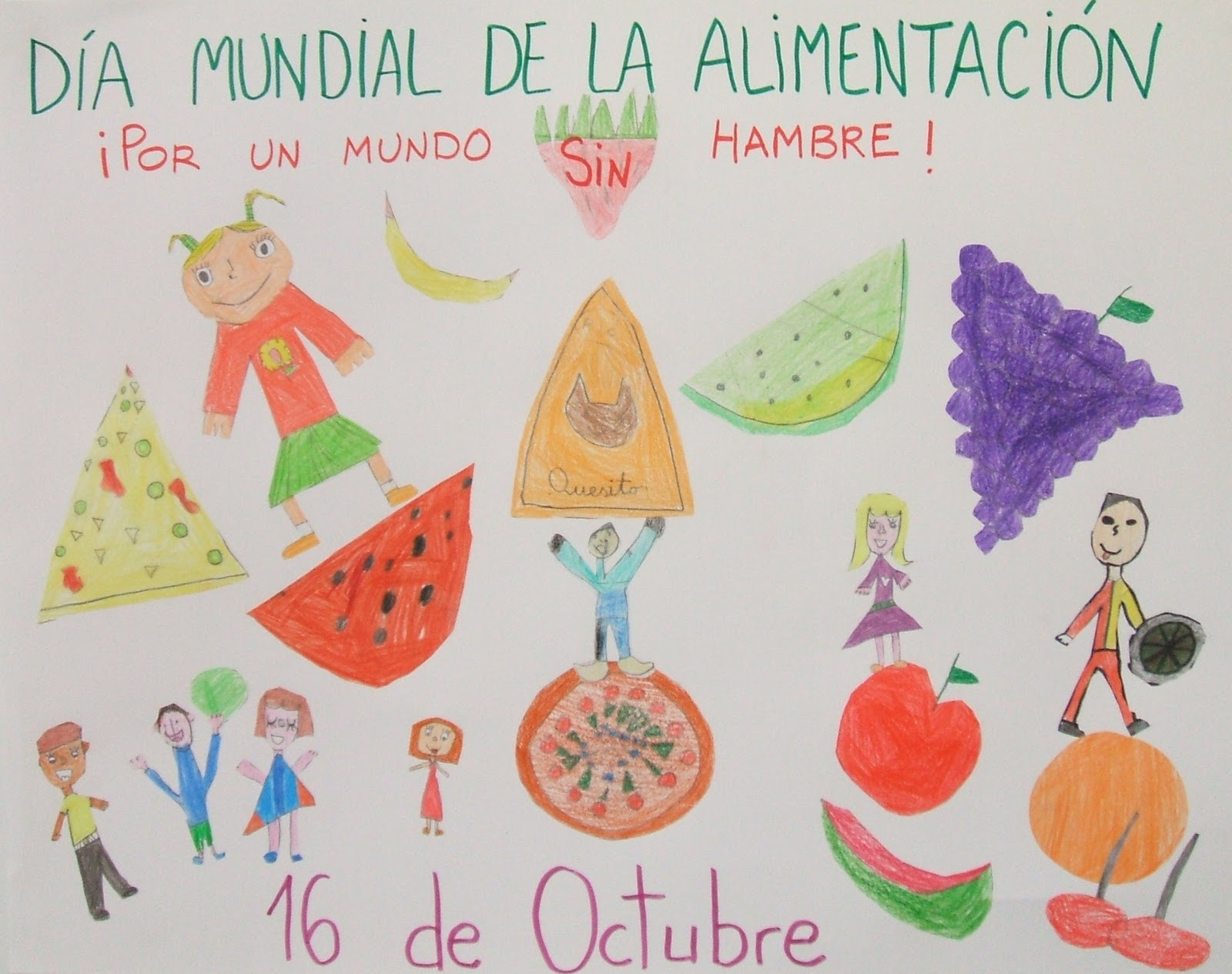 2º A Colegio Pilar Izquierdo Dia Mundial De La Alimentacion