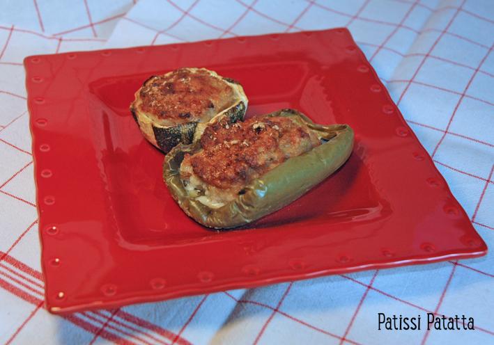 Patissi patatta poivrons et courgettes farcis - Comment cuisiner les courgettes rondes ...