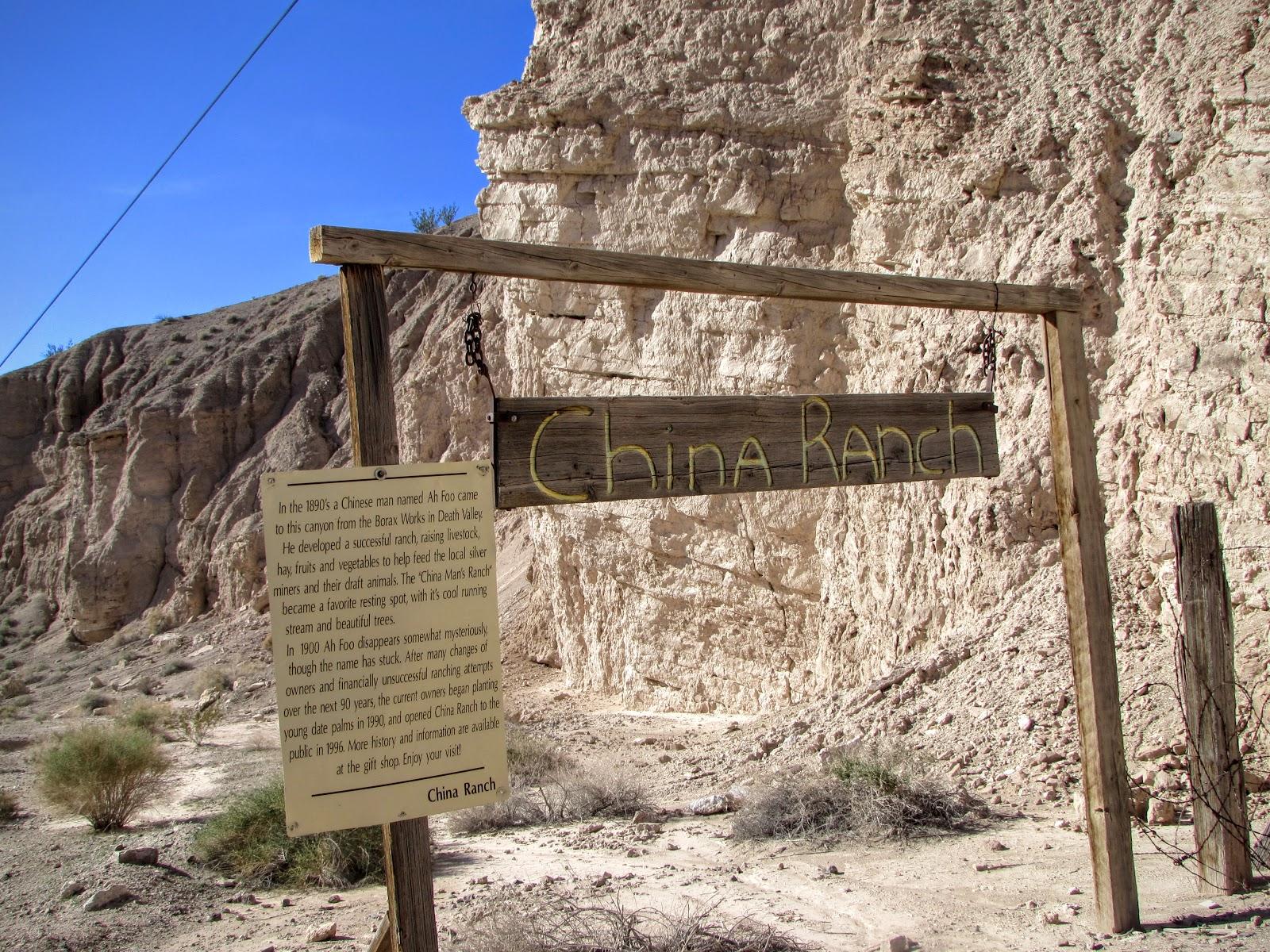 a la entrada de china ranch