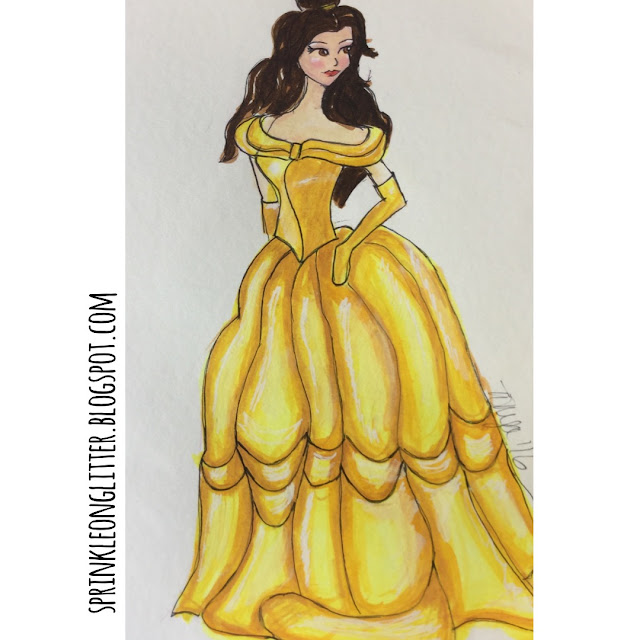 Sprinkle On Glitter Blog// Disney Princess//Belle