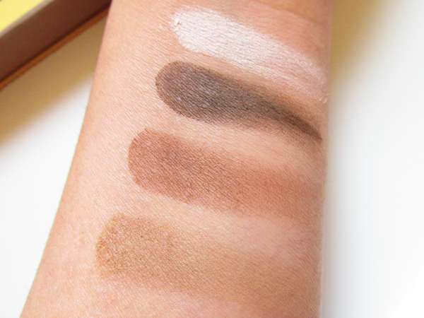 essence  how to make BROWS wow make-up box swatches