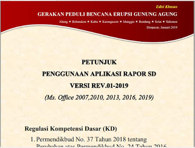 Petunjuk Penggunaan Aplikasi Raport K13 SD/MI Semester 2 Revisi 01-2019, http://www.librarypendidikan.com/