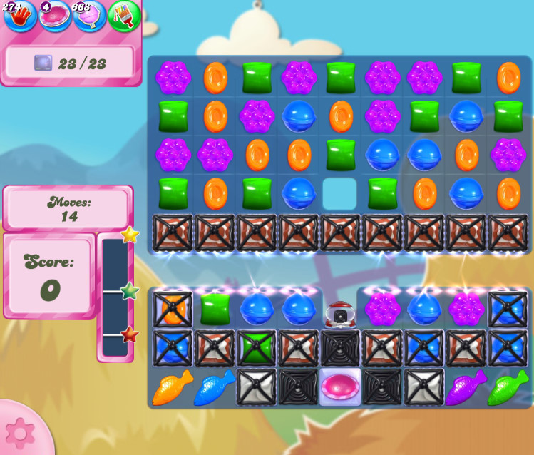 Candy Crush Saga level 2704