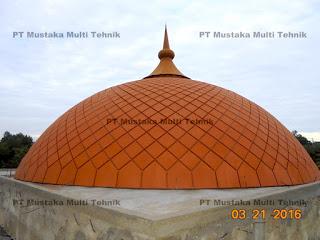 Jual kubah masjid panel warna