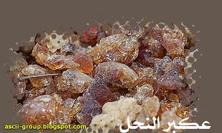 خواص العكبر او صمغ النحل العلاجية The therapeutic properties of propolis