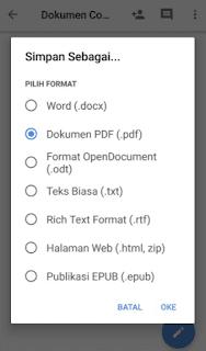 simpan PDF di Google Dokumen