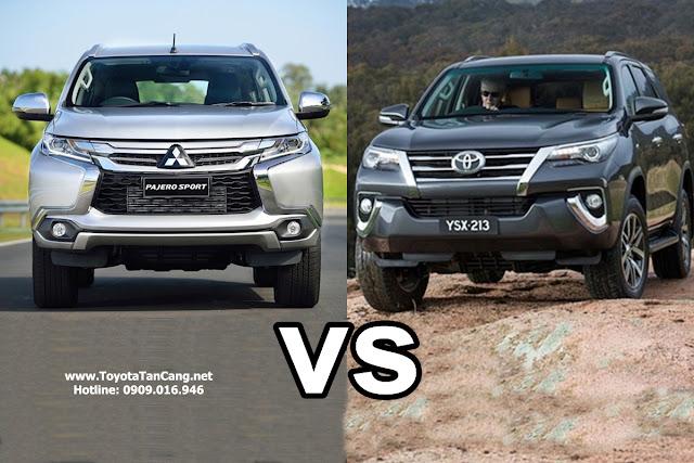 Chọn xe 7 chỗ Toyota Fortuner 2016 hay Mitsubishi Pajero Sport 2016 tại Việt Nam ?