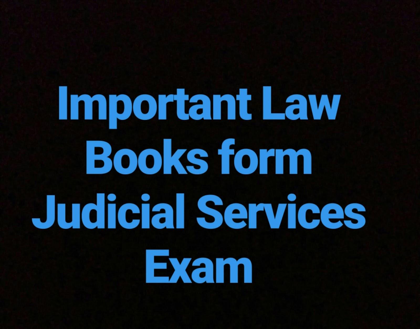 Important Books Form Judicial Services Exam Our Legal Worldcom - Legal form books
