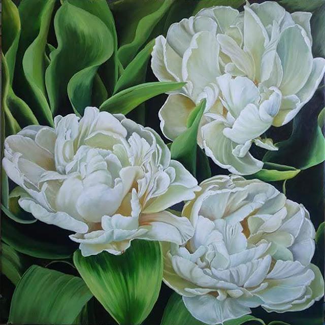 tranh vẽ hoa đẹp