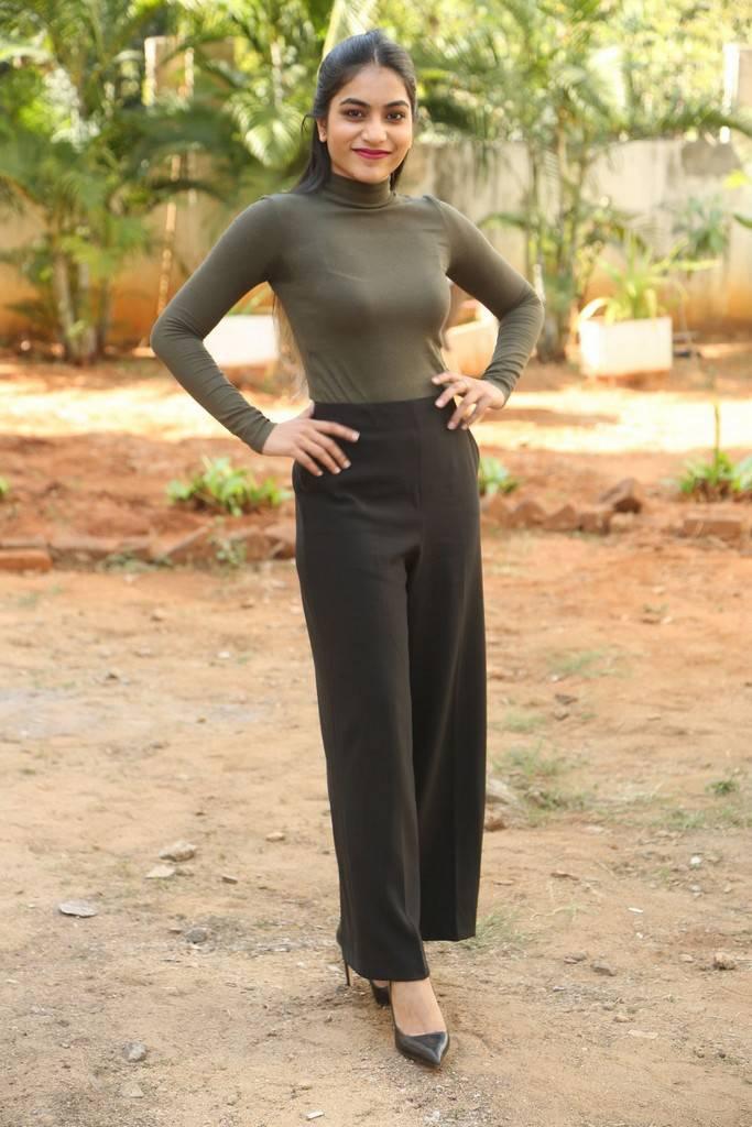 Punarnavi Stills At Pittagoda Movie Interview