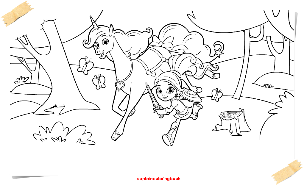 Nella The Princess Knight Coloring Pages Coloring Page