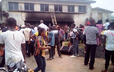 One critically injured as fire engulfs a female hostel at Cross River State College of Education (See Photos)