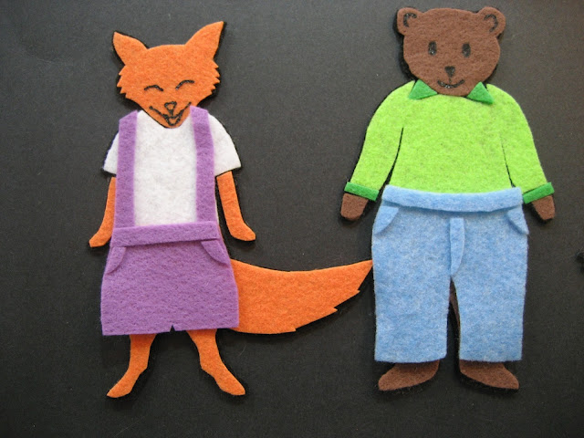 Flannel Board Fun Fox Bear Clothes