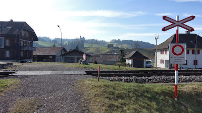 Bahnübergang beim Bahnhof Sumiswald-Grünen