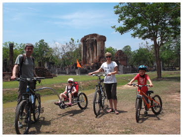 Bicycling in Sukhothai Historical Park