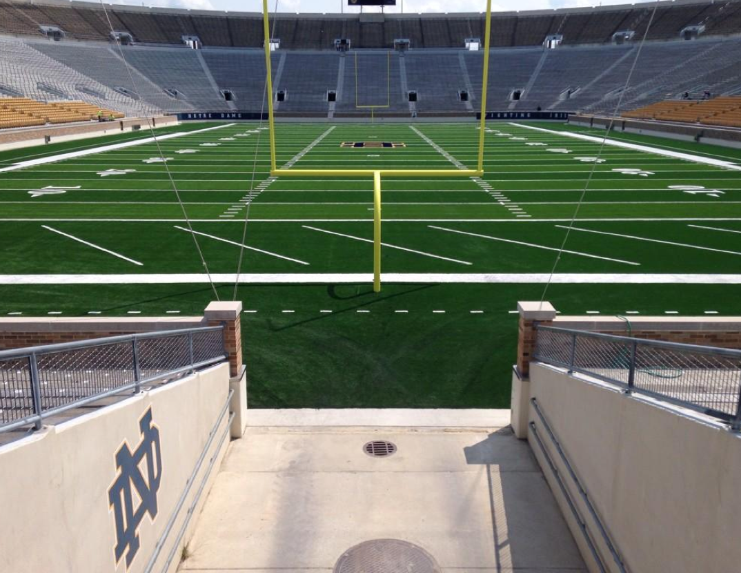Jim Small S Notre Dame Go Irish Blog Www Ndgoirish Com A Notre Dame Blog The New View From Notre Dame S Tunnel