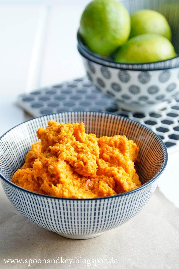 Möhren Pesto, Karotten-Pesto Rezept spoonandkey Blog