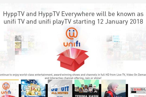 HyppTv Tukar Kepada Unifi Tv