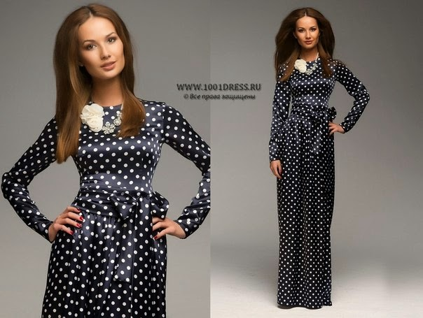 e51e53221db Платье черное в белый горошек в пол - Модадром