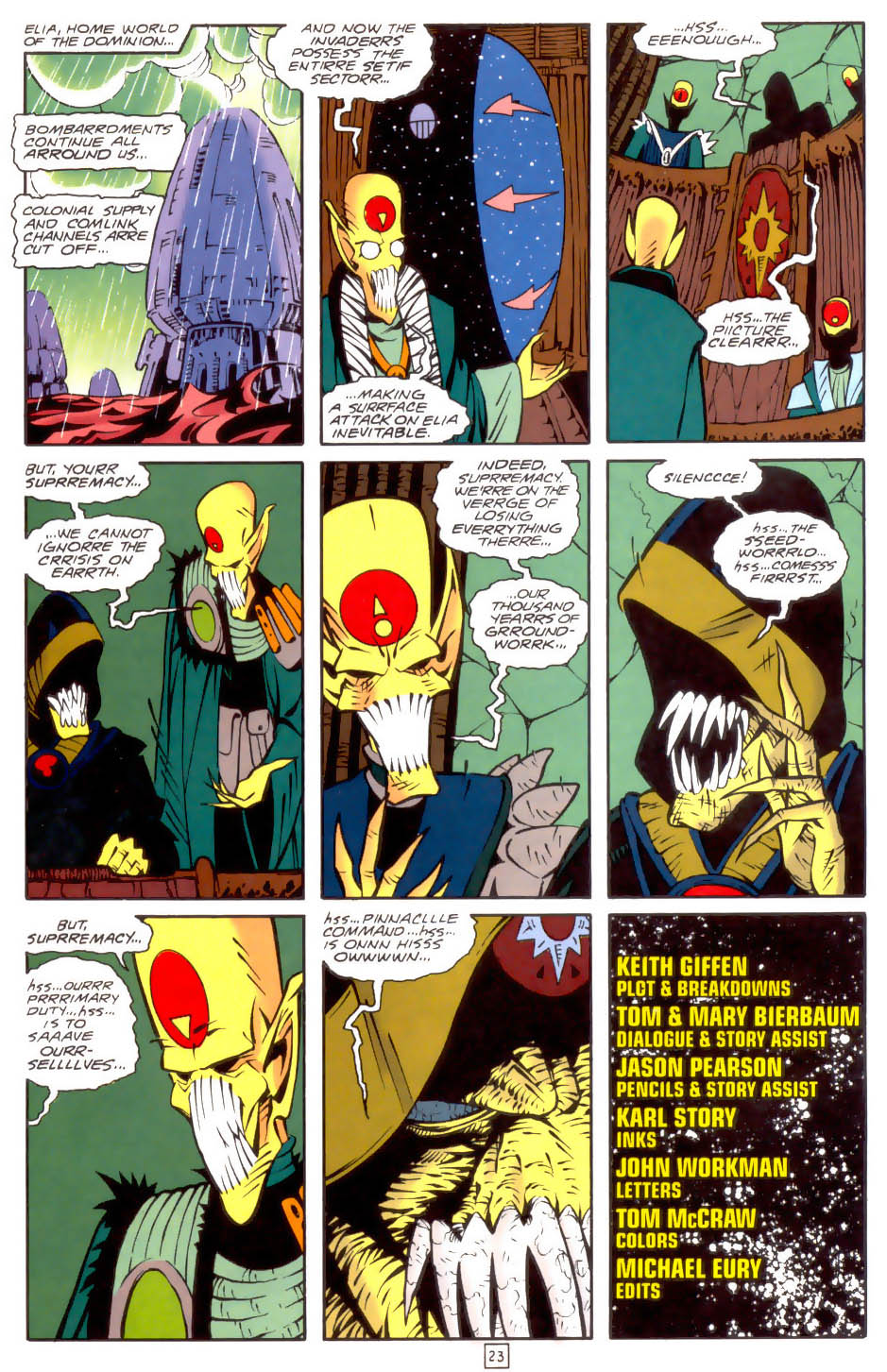 Legion of Super-Heroes (1989) 34 Page 23
