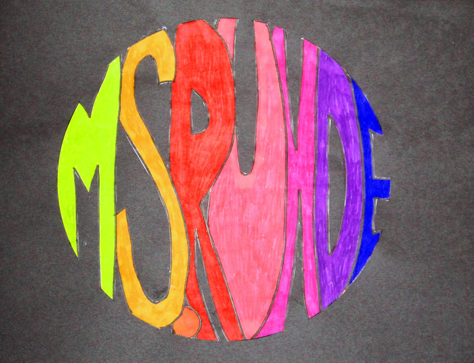Name Art: Runde's Room: Friday Art Feature: Name Spheres And 3D