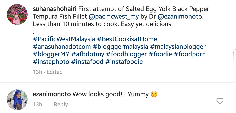 Resipi Salted Egg Yolk Black Pepper Tempura Fish Fillet