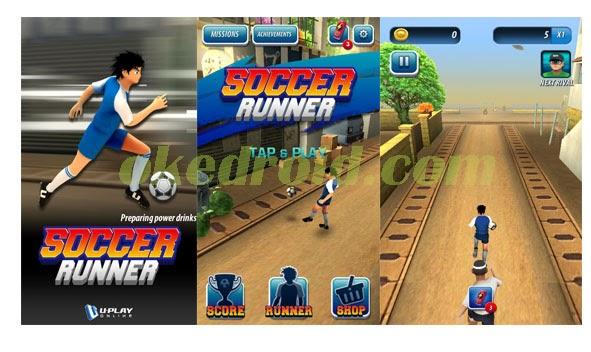 Soccer Runner : Game Kejar-kejaran dengan bola di Smartphone Android kalian