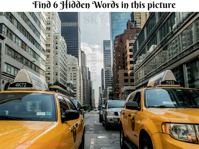 Hidden Words Picture Puzzle City