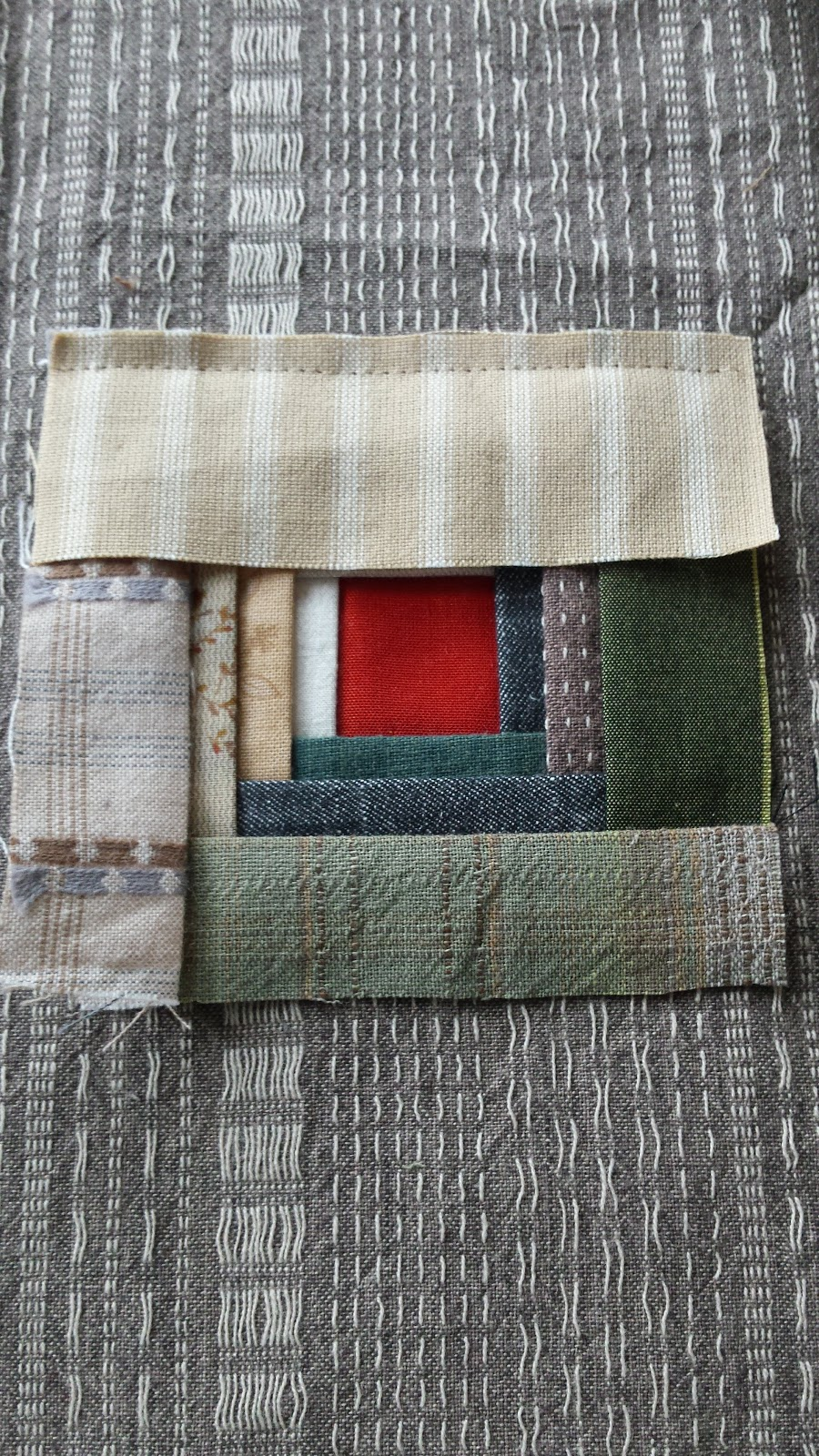 Colours And Fabrics Manx Log Cabin