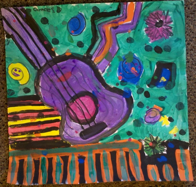 Art With Mrs Smith Jazzy Guitars Grades 5 6