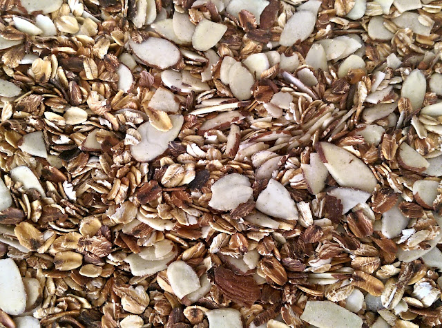 Toast Silvered Almonds and Oats for added flavour in Homemade Granola