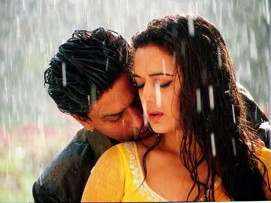 Love Couple Image in Rain