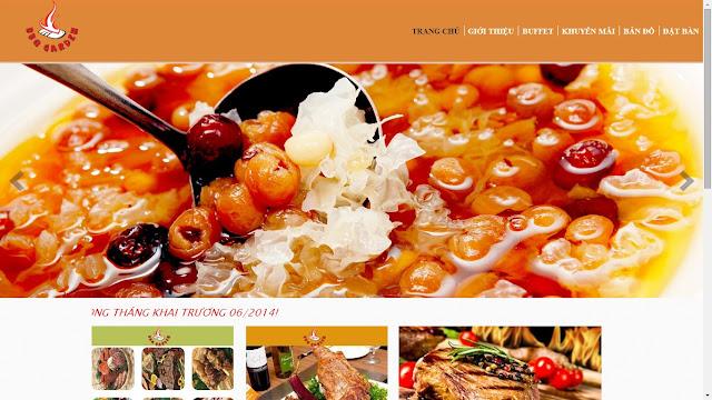 Thiết kế website nhà hàng khách sạn giá rẻ chuẩn seo