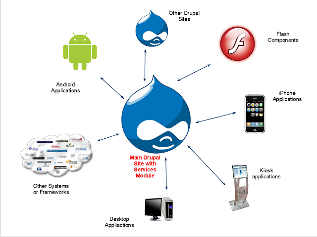 Main Drupal Site with Services Module