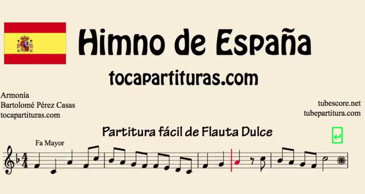 Himno Nacional de España Partitura de Flauta, Violín, Saxofón Alto, Trompeta, Viola, Oboe, Clarinete, Saxo Tenor, Soprano Sax, Trombón, Fliscorno, chelo, Fagot, Barítono, Bombardino, Trompa o corno, Tuba...
