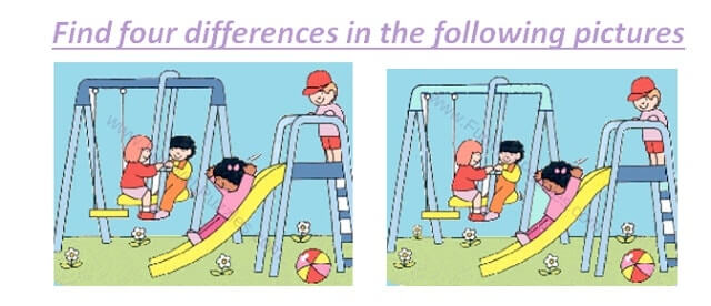 Picture Puzzles in which your challenge is to Spot the differences