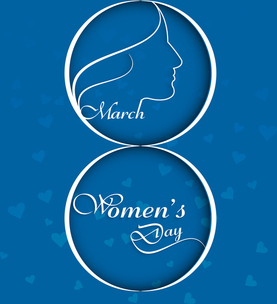 Happy womens day colorful card or background vector design Free vector