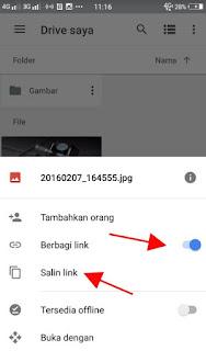 Cara membuat link download langsung pada google drive via android