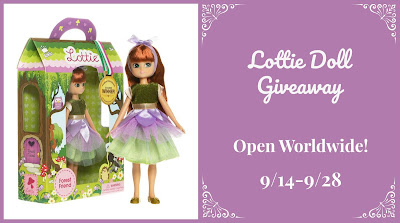Enter the Lottie Doll Giveaway. Ends 9/28. Open WW