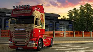 Old School Lady skin for Scania RJL
