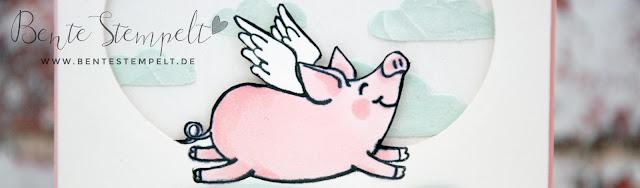 Stampin Up Glücksschweinchen Blends Strukturpaste Flügel Alles Liebe