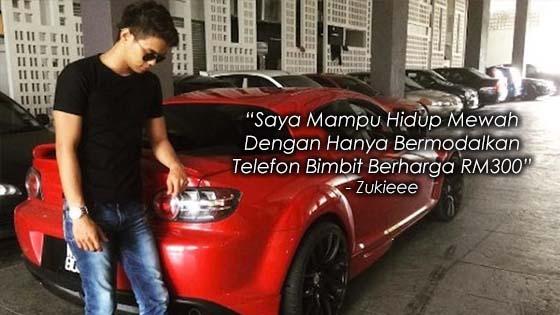 Dengan Bermodalkan Handphone Bernilai RM300, Zukieee Kini Mampu Hidup Mewah