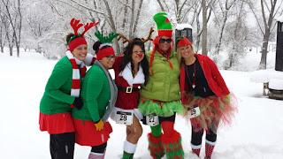 christmas xmas jingle bell run snowman