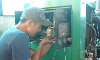 MELAYANI SERVICE PANEL GENSET