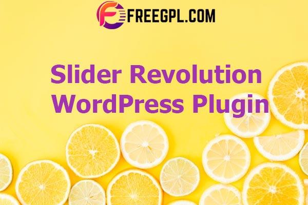Slider Revolution Responsive WordPress Plugin Nulled Download Free