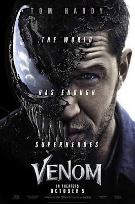 "Marvel's Venom ""The World Has Enough Superheroes"" Theatrical One Sheet Teaser Movie Poster"