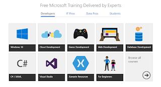 تعلم تقنيات شركة Microsoft بالمجان